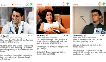 If the Friends Gang Was on Tinder
