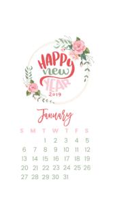 happy new year phone background