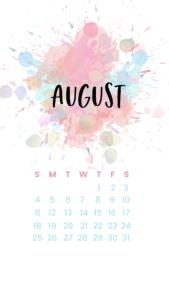 august phone calendar