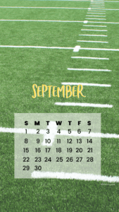 September phone background