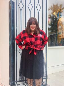 tulle skirt and flannel